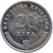 20 Lipa (Croatian text) -  reverse