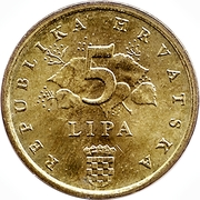 5 Lipa (Latin text) -  reverse