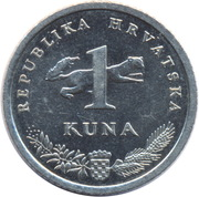 1 Kuna (Croatian text) -  reverse