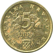5 Lipa (Croatian text) -  reverse