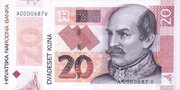 20 Kuna (20th Anniversary of National Bank) -  obverse