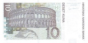 10 Kuna (10th Anniversary of National Bank) – reverse