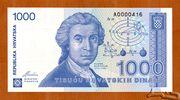 1,000 Dinara – obverse
