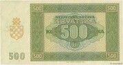 500 Kuna -  reverse