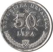 50 Lipa (Croatian text) -  reverse