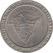 1000 Lira - Casino La Tropicana (Umag) – obverse