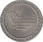 1000 Lira - Casino La Tropicana (Umag) – reverse