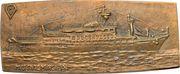 Plaquette - Launch of the cruise liner MS Dalmacija – obverse