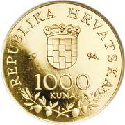 1000 Kuna (Pope John Paul II) – reverse