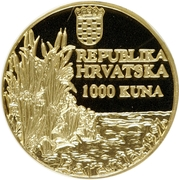 1000 Kuna (Crna Roda) – reverse