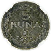 5 Kuna (Pattern) – reverse