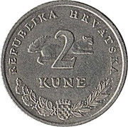 2 Kune (Croatian text) -  reverse