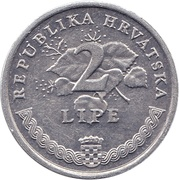 2 Lipe (Croatian text) – reverse
