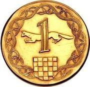 1 Kuna (Pattern) – reverse