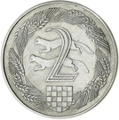 2 Kuna (Pattern; nickel) – reverse
