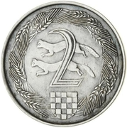 2 Kuna (Pattern; silver) – reverse