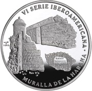 10 Pesos (Muralla de la Habana) -  reverse