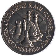 1 Peso (José Raul Capablanca) -  reverse