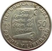50 Centavos (José Martí) -  obverse