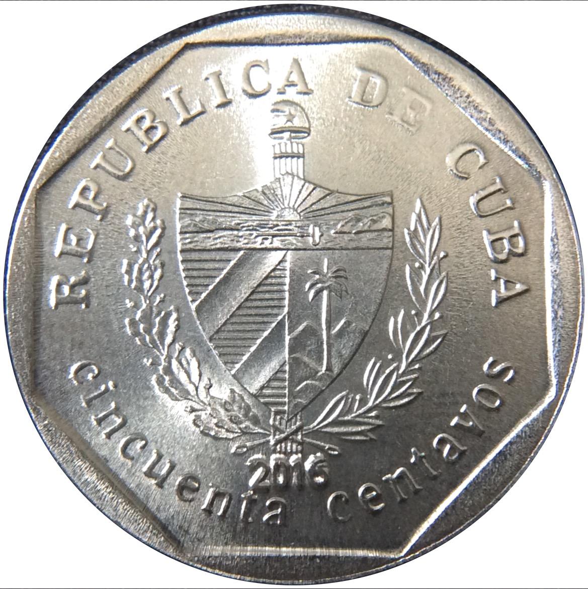 republica de cuba coin 25 centavos