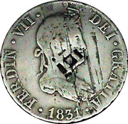 2 Reales (Countermarked) – obverse