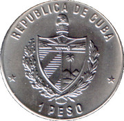 1 Peso (Volleyball) – obverse