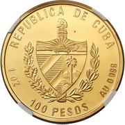 100 Pesos (Marti and Castro) – obverse
