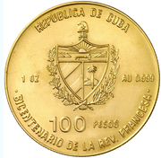 100 Pesos (200th Anniversary of French Revolution - Liberty) – obverse