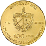 100 Pesos (200th Anniversary of French Revolution - Bastille) – obverse