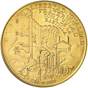100 Pesos (200th Anniversary of French Revolution - Bastille) – reverse