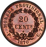 20 Centavos (Pattern) – reverse