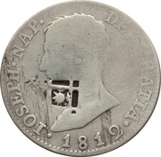 4 Reales (Countermark on Spanish - Seville 4 Reales, KM#540.2) – obverse