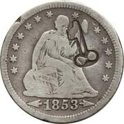 25 Centavos (Countermarked) – obverse