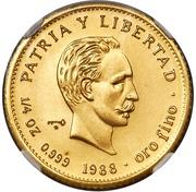 25 Pesos (José Martí; Piedfort)