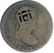 2 Reales (Countermark on Spanish - Madrid 2 Reales, KM#460.2) – obverse