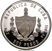 500 Pesos (40th. Moncada Anniversary) – obverse