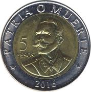 5 Pesos (Antonio Maceo) -  reverse