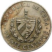 20 Centavos (José Martí) -  obverse