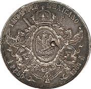 1 Peso (Countermarked) – reverse
