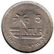 5 Centavos (INTUR) – reverse