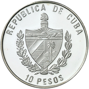 10 Pesos (400 years of the Quixote) – obverse