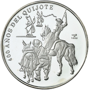 10 Pesos (400 years of the Quixote) – reverse