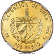 200 Pesos (Bolivar and Marti) – obverse