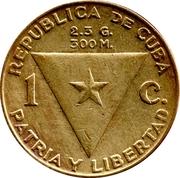 1 Centavo (José Martí) – obverse