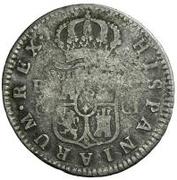 2 Reales (Countermark on Spanish - Cadiz 2 Reales, KM#460.1) – reverse