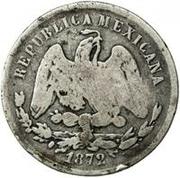 25 Centavos (Countermarked) – reverse