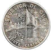 20 Centavos (50th. Anniversary of the Republic) -  obverse