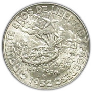 40 Centavos (50th. Anniversary of the Republic) -  obverse