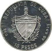 10 Pesos (Volleyball) – obverse
