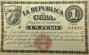 1 Peso (1869 Issue La Republica de Cuba) – obverse